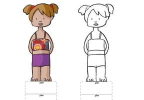 Paper doll fille métisse