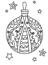 Coloriage boule de Noël ronde