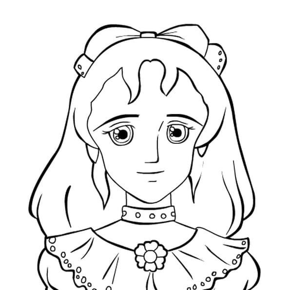 Dessin princesse sarah a colorier
