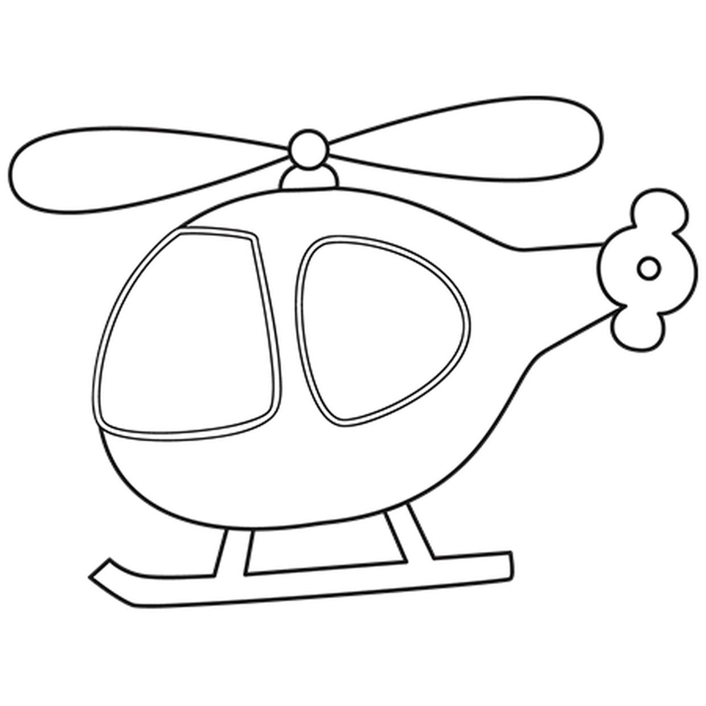 Coloriage Petit Hélicoptère En Ligne Gratuit à Imprimer