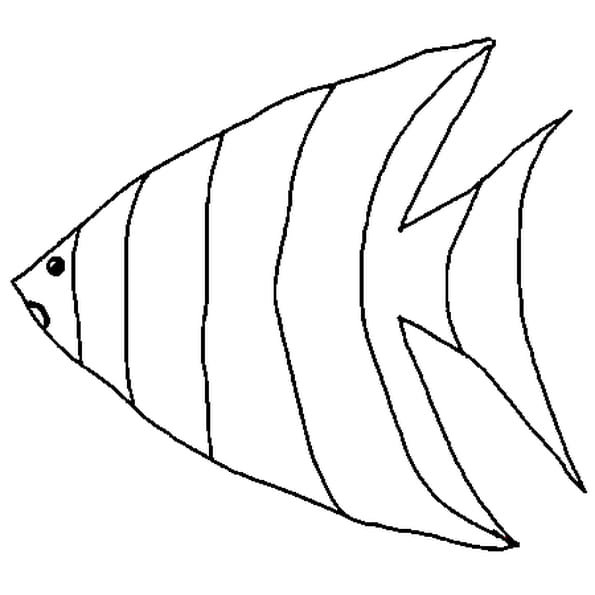 Dessin de poisson d'avril a colorier