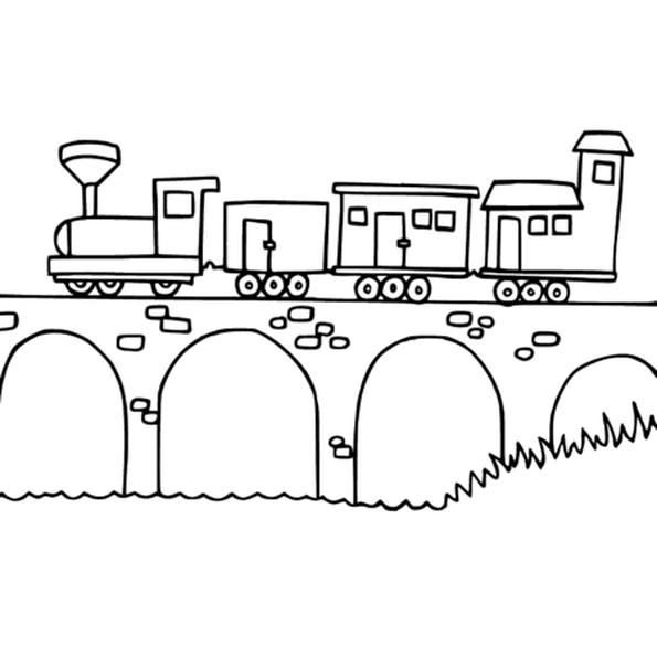 Coloriage Train En Ligne Gratuit à Imprimer