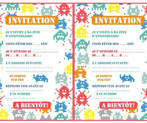 Carte Invitation Anniversaire Petite Fille Et Ses Gâteaux