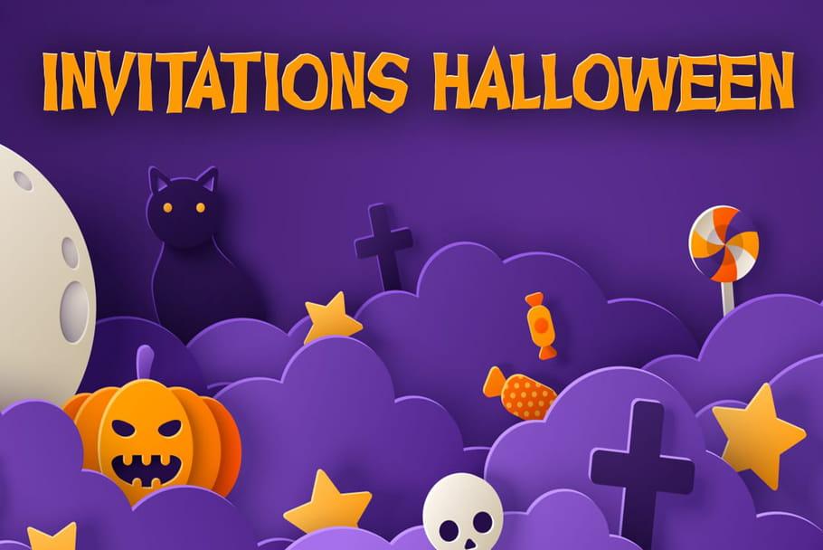 Invitations fête d'Halloween