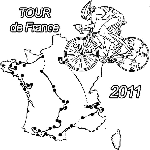 Coloriage Tour de France 2011 en Ligne Gratuit à imprimer