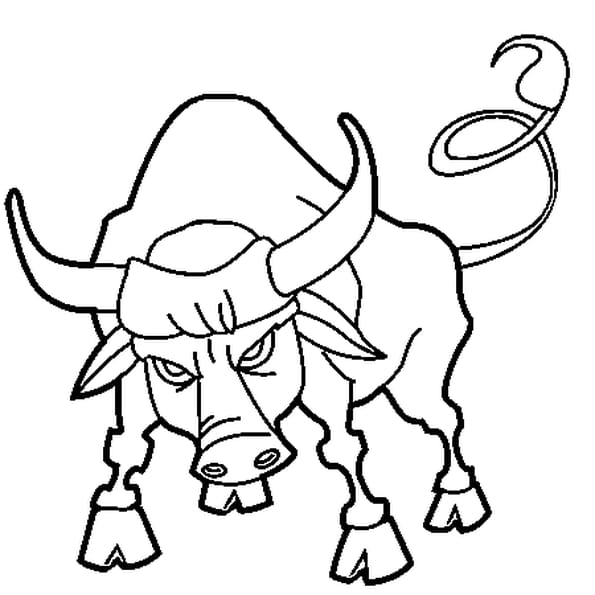 De taureau coloriage de taureau en ligne gratuit a - Vache dessin facile ...