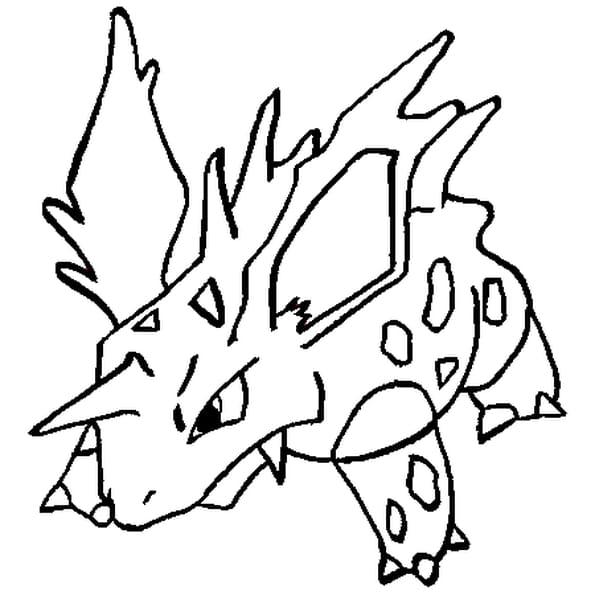 Dessin Pokémon nidorino a colorier