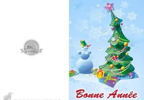 Carte sapin de Noël vert