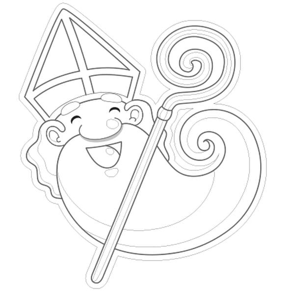 Coloriage t te de saint nicolas en ligne gratuit imprimer - Image de saint nicolas a imprimer ...