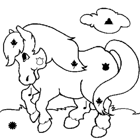 Coloriage Cheval magique en Ligne Gratuit à imprimer