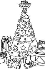 Coloriage Un Sapin de Noël en Ligne Gratuit à imprimer