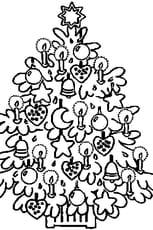 Coloriage du sapin de Noël en Ligne Gratuit à imprimer
