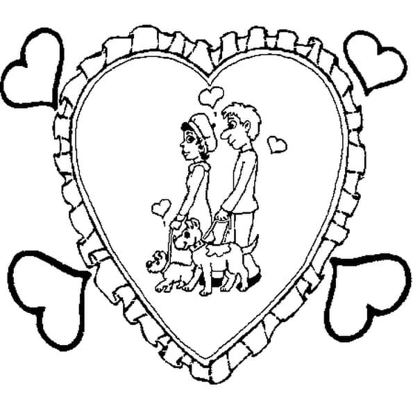 Coloriage A Imprimer Amour.Coloriage D Amour En Ligne Gratuit A Imprimer