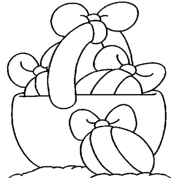 Coloriage oeufs en chocolat en Ligne Gratuit à imprimer
