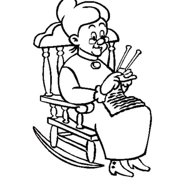 Coloriage fête des grands mères en Ligne Gratuit à imprimer