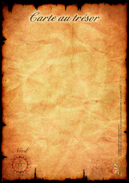 La carte au tr sor du pirate - Carte chasse au tresor ...