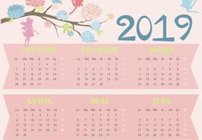 Calendrier 2019Fées et fleurs