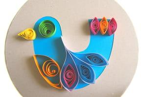 Oiseau bleu en Quilling