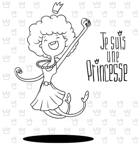 Coloriage Princesse rigolote en Ligne Gratuit à imprimer
