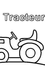 Coloriage T comme Tracteur