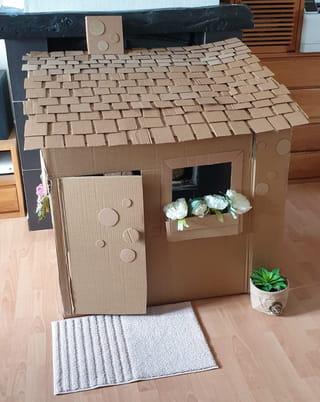 Votre cabane en carton est terminée!