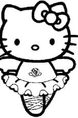 Coloriage Hello Kitty danseuse en Ligne Gratuit à imprimer
