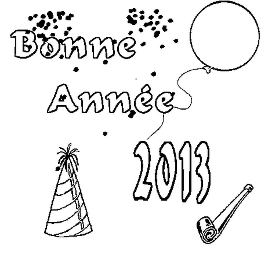 Dessin 2013 a colorier