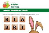 Les mots mélangés en Anglais, exercice11