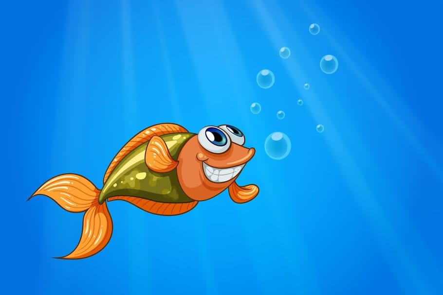 Comptine Un poisson au fond d'un étang
