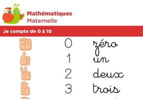 Mathématiques fiche 3, je compte de 0à 10