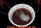 La main ensanglantée Halloween!
