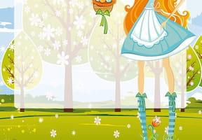 Carte panier de Pâques