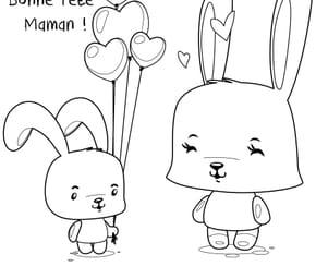 Fête des Mères lapin