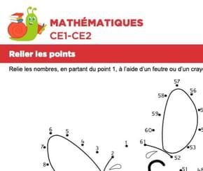 Mathématiques, relier les points, une souris