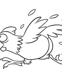 La poule qui se sauve
