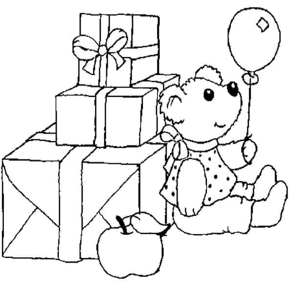 Coloriage Cadeaux En Ligne Gratuit A Imprimer