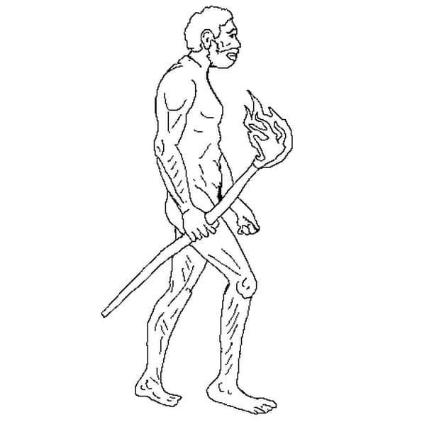 Coloriage Homme Prehistorique