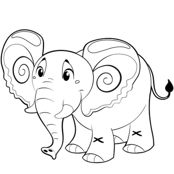 Dessin Petit éléphant a colorier