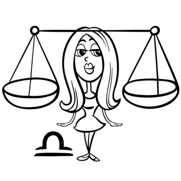 Dessin Signe du Zodiaque la Balance a colorier