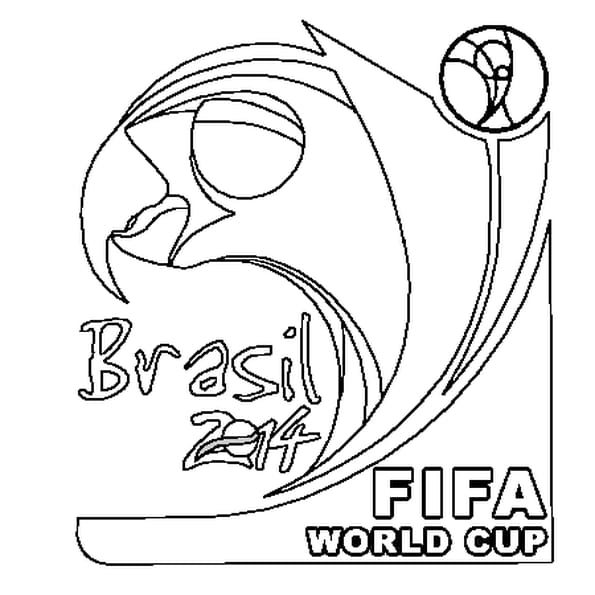 Coloriage Coupe du Monde 2014 en Ligne Gratuit à imprimer