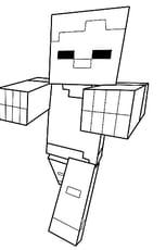 Coloriage Zombie de Minecraft