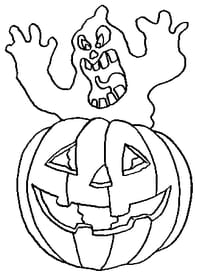 Citrouille d'Halloween et fantôme hurleur