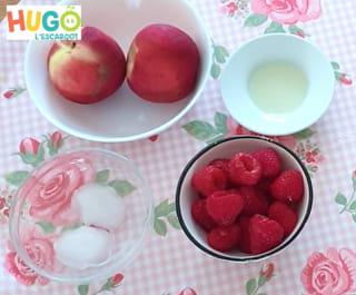 Les ingrédients du smoothie aux jus de fruits