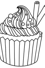 Coloriage Cupcake vanille cannelle