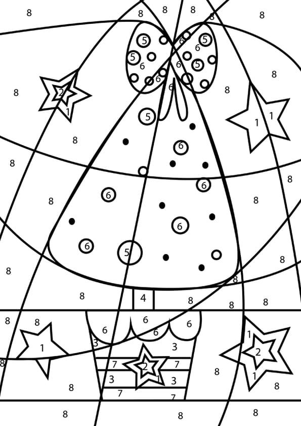Coloriage Magique Grand Sapin De Noel