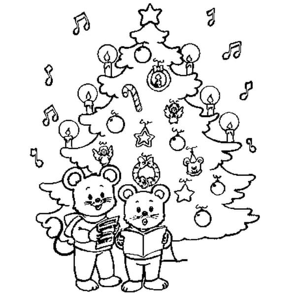 Dessin Un sapin Noël a colorier