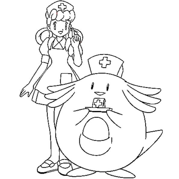 Dessin joelle Pokémon a colorier