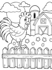 Coloriage Animaux De La Ferme Page 1