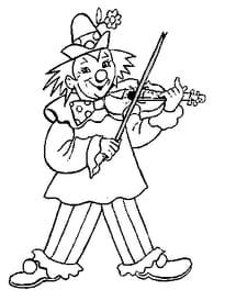 Clown Musicien