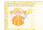 Carte invitation anniversaire fée orange
